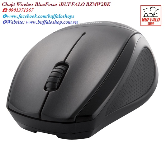 Chuột Wireless BlueFocus iBUFFALO BZMW2BK