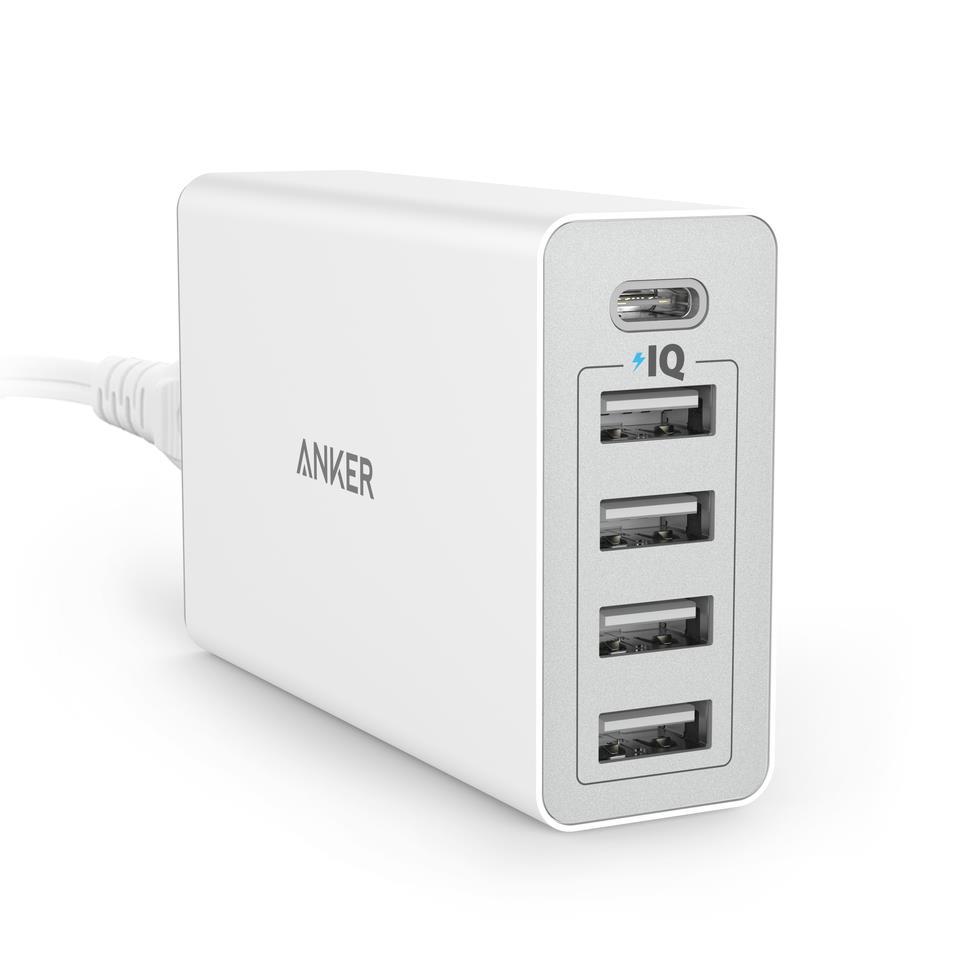 Sạc Anker 5 Cổng 40W USB-C