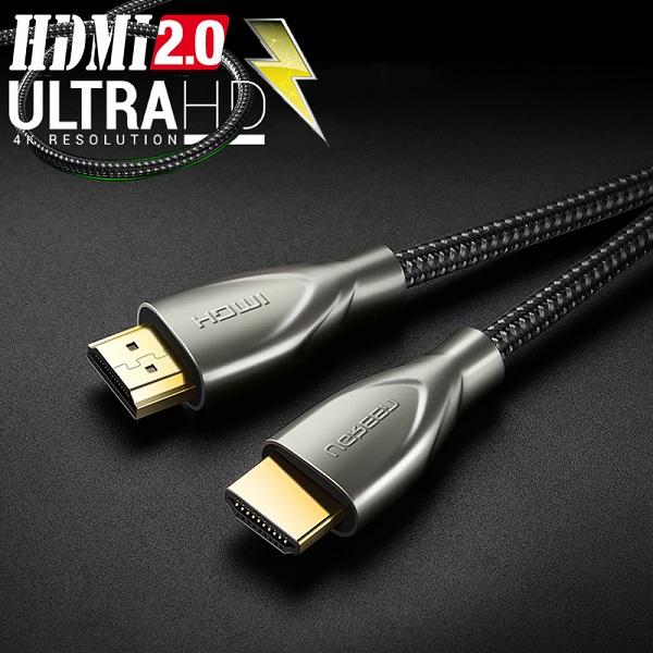 Cáp HDMI 2.0 Hỗ Trợ 3D 4K*60Hz Dài 3m Carbon UGREEN 50109