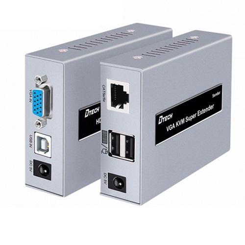 Bộ kéo dài VGA qua cáp mạng có cổng USB 60M VGA-USB-60M
